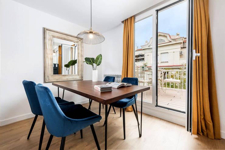 Mediterranean style dining room by Simetrika Rehabilitación Integral Mediterranean