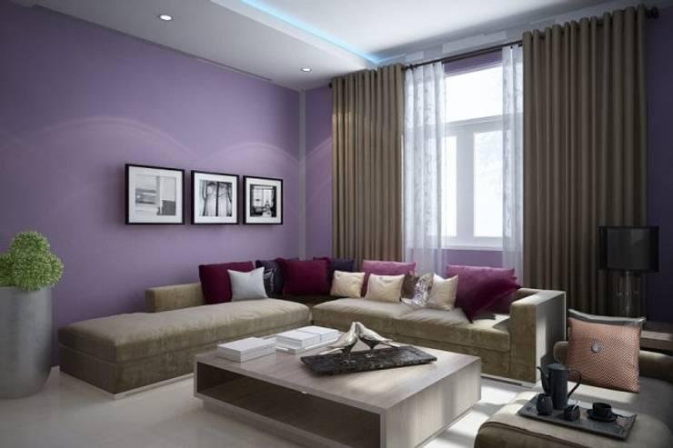 Nội thất phòng khách:  Biệt thự by Công ty TNHH Thiết Kế Xây Dựng Song Gia Phát