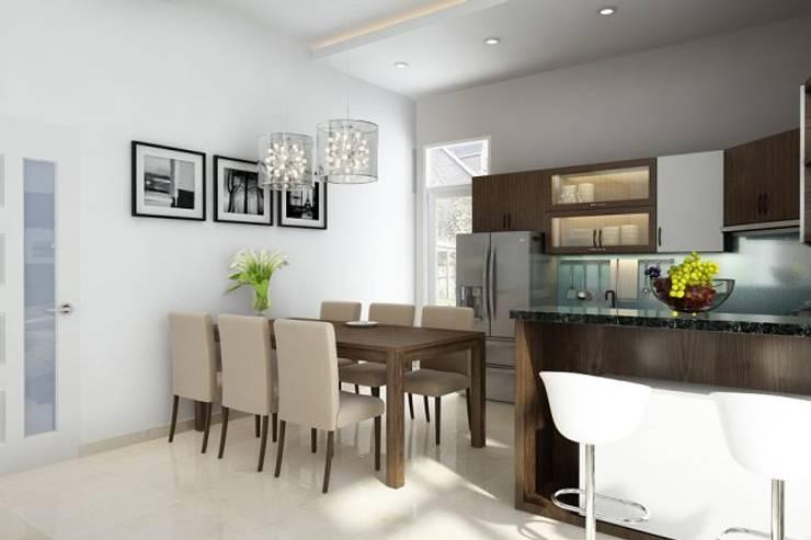 Thiết kế phòng ăn:  Biệt thự by Công ty TNHH Thiết Kế Xây Dựng Song Gia Phát
