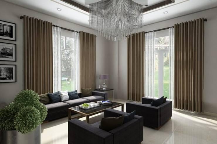 Mẫu biệt thự đẹp 2 tầng ở Bạc Liêu:  Biệt thự by Công ty TNHH Thiết Kế Xây Dựng Song Gia Phát