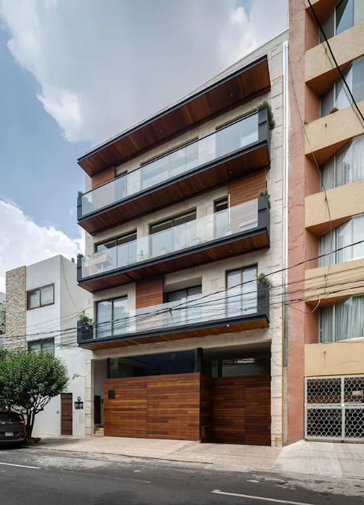 VIVIENDA MULTIFAMILIAR EL ÁLAMO - ARQUITECTOS ASOCIADOS RODRIGUEZ 955 758 169:  de estilo  por Arquitectos Asociados Rodriguez