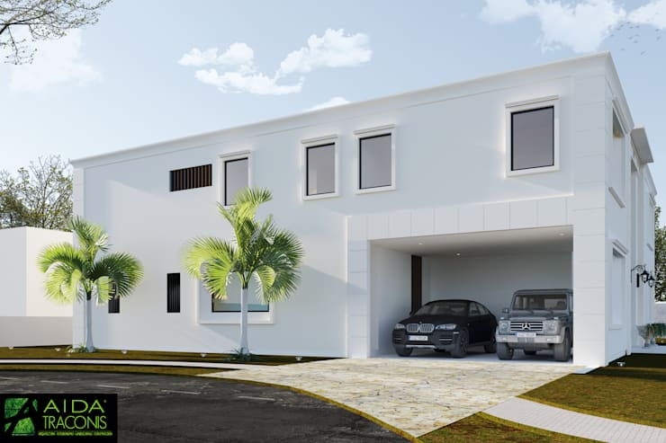 Garajes de estilo  de AIDA TRACONIS ARQUITECTOS EN MERIDA YUCATAN MEXICO, Clásico