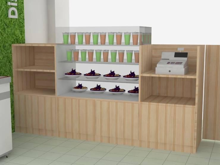 Propuesta de diseño para fruteriá Niquía Propuesta de diseño para fruteriá Niquía :  de estilo  por Decó ambientes a la medida