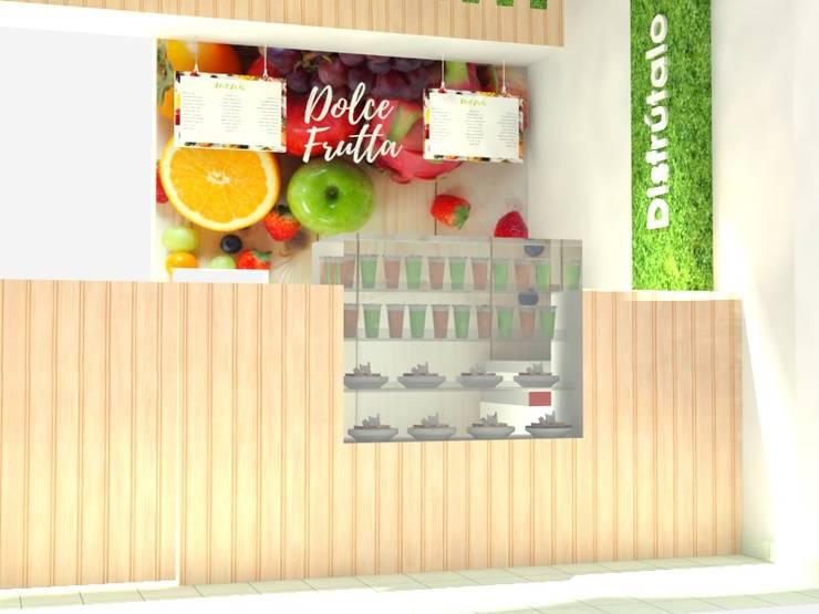 Propuesta de diseño para fruteriá Niquía :  de estilo  por Decó ambientes a la medida