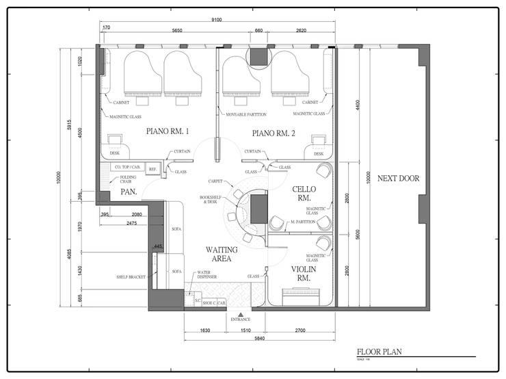 Projekty,  Powierzchnie handlowe zaprojektowane przez 五紙設計, Skandynawski