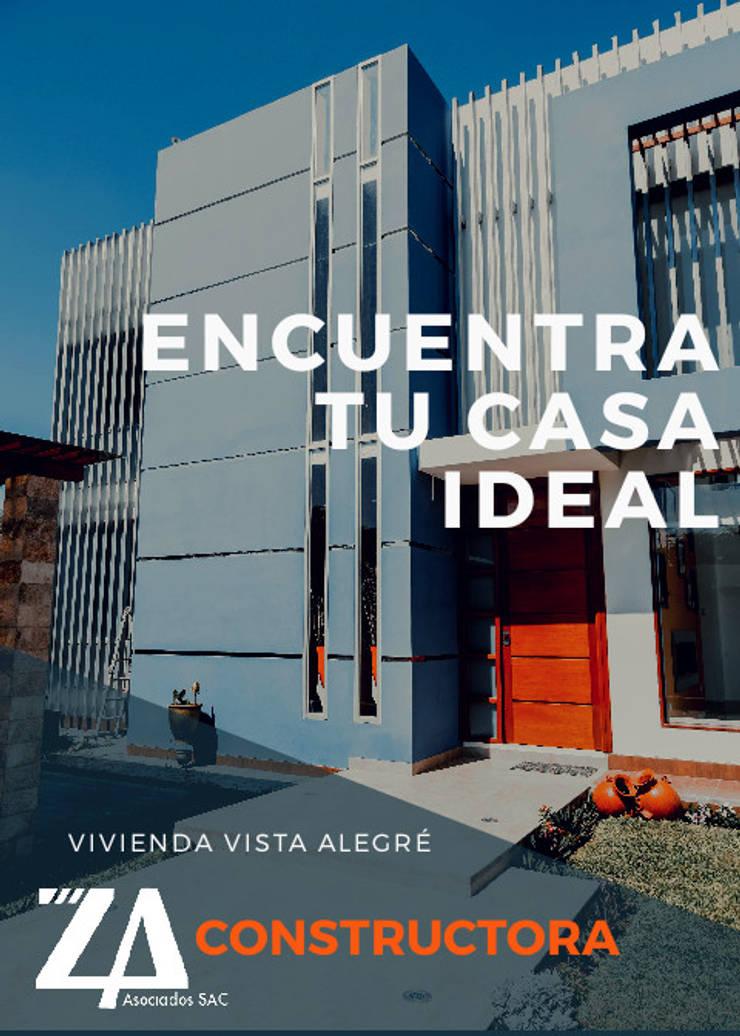 VIVIENDA UNIFAMILIAR VISTA ALEGRE: Casas unifamiliares de estilo  por Estudio de Arquitectos Zulueta y Álvarez SAC,