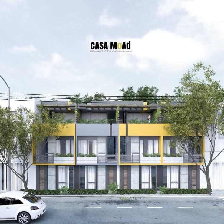 Casas moad: Casas de estilo  por ProcesoLAB Arquitectos , Minimalista