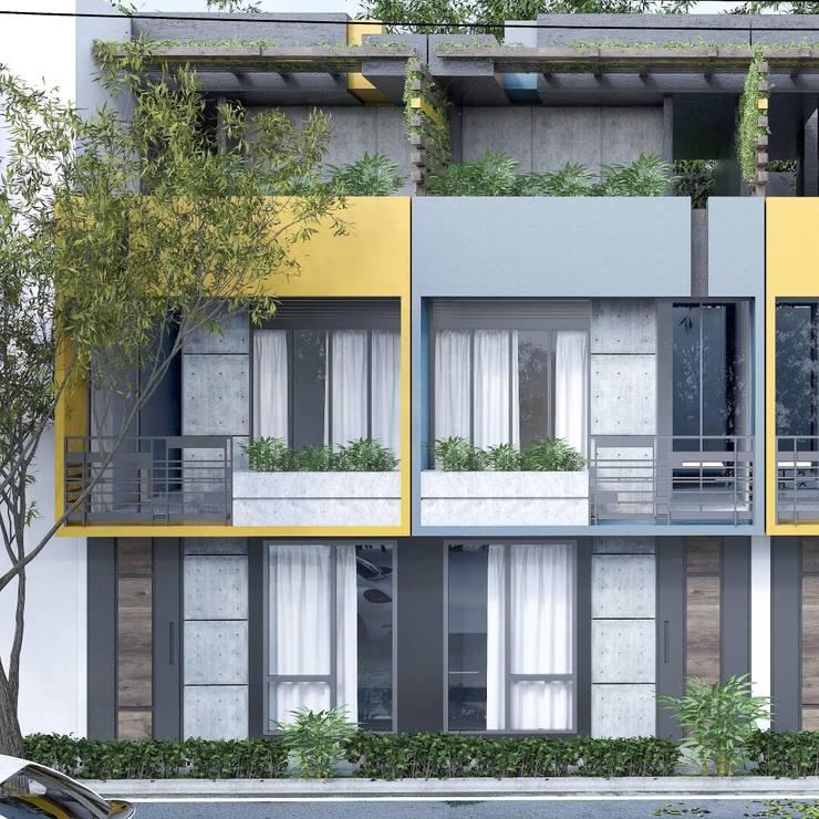 Casas moad: Casas de estilo  por ProcesoLAB Arquitectos , Escandinavo