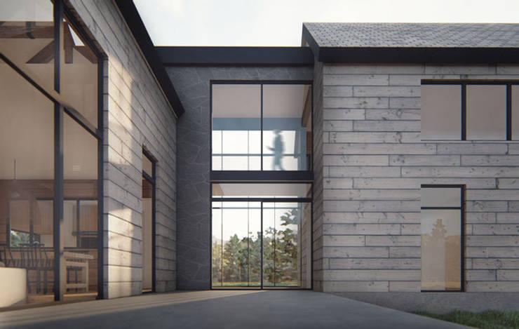 Casa AD: Chalets de estilo  por Estudio Sur Arquitectos
