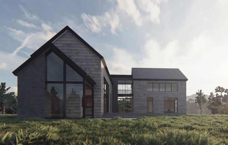 Casa AD: Casas unifamiliares de estilo  por Estudio Sur Arquitectos