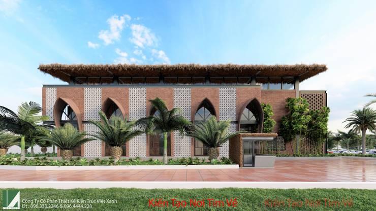 NHÀ HÀNG 2 TẦNG - THỦY NGUYÊN - HẢI PHÒNG:   by công ty cổ phần Thiết kế Kiến trúc Việt Xanh