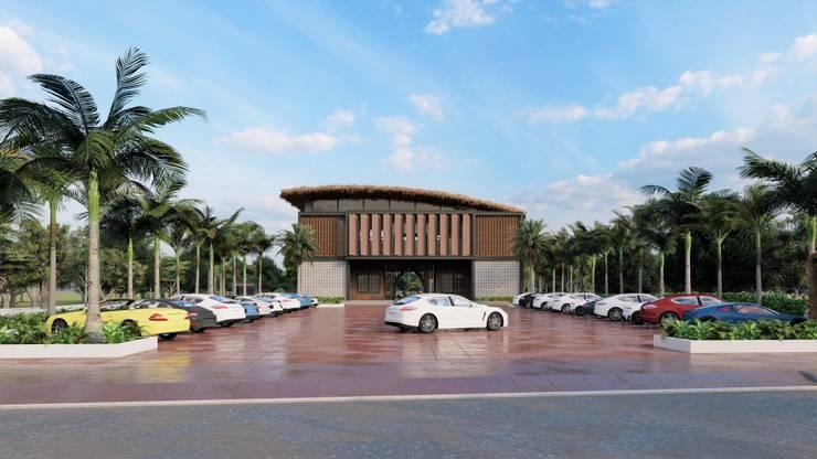 NHÀ HÀNG 2 TẦNG – THỦY NGUYÊN – HẢI PHÒNG:   by công ty cổ phần Thiết kế Kiến trúc Việt Xanh