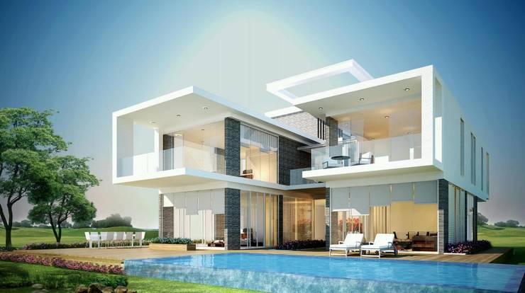 Xây dựng biệt thự thô và trọn gói cao cấp bởi TNHH xây dựng và thiết kế nội thất AN PHÚ CONs 0911.120.739 Châu Á Bê tông