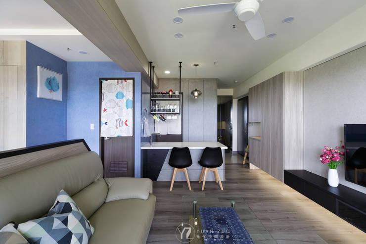 Столовые комнаты в . Автор – 元作空間設計, Модерн