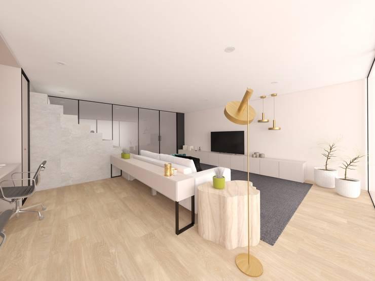 Salones de estilo minimalista de MIA arquitetos Minimalista