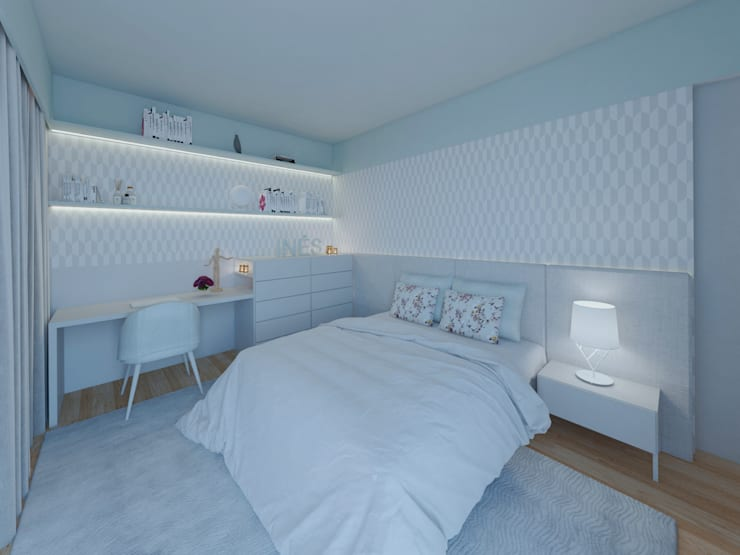 Dormitorios de estilo moderno de MIA arquitetos Moderno