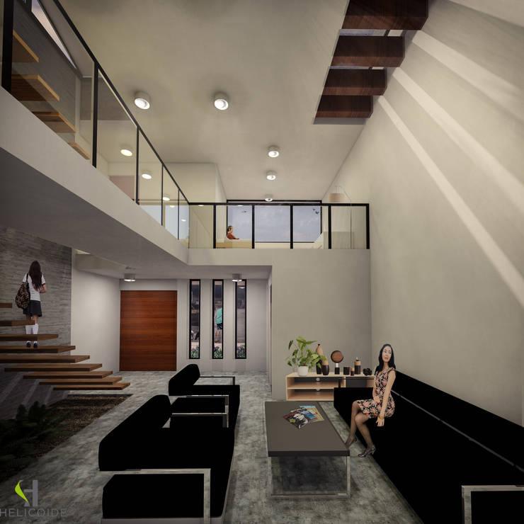 Modern living room by Helicoide Estudio de Arquitectura Modern
