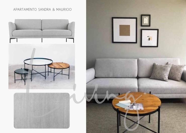 APARTAMENTO CHÍA:  de estilo  por BHURA DESIGN, Moderno