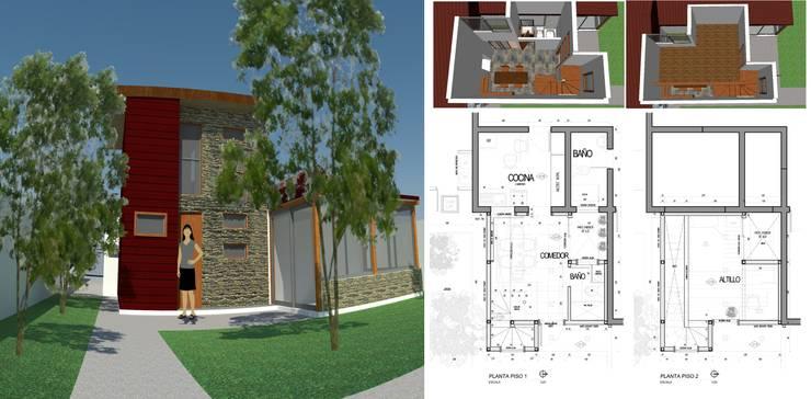Remodelación Quilpué: Casas unifamiliares de estilo  por PG + Arq