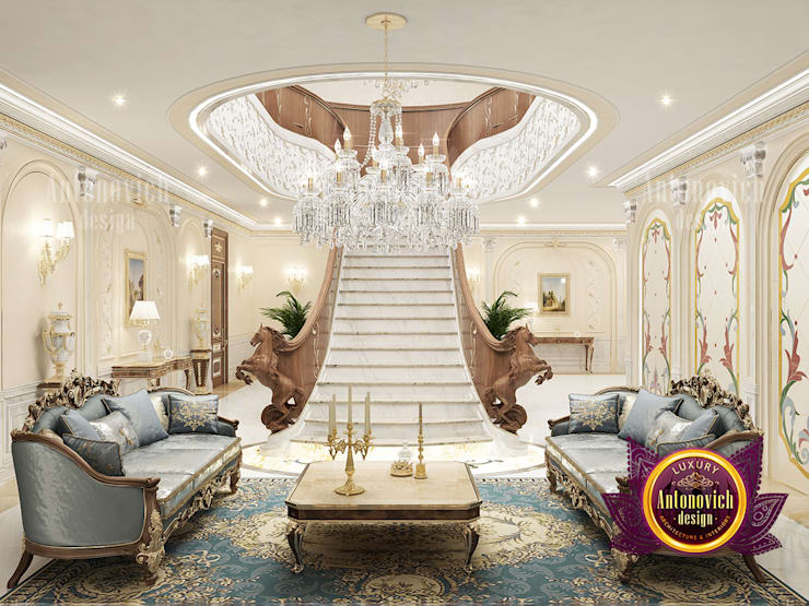 Outstanding Hall Interior Solutions:   by Luxury Antonovich Design