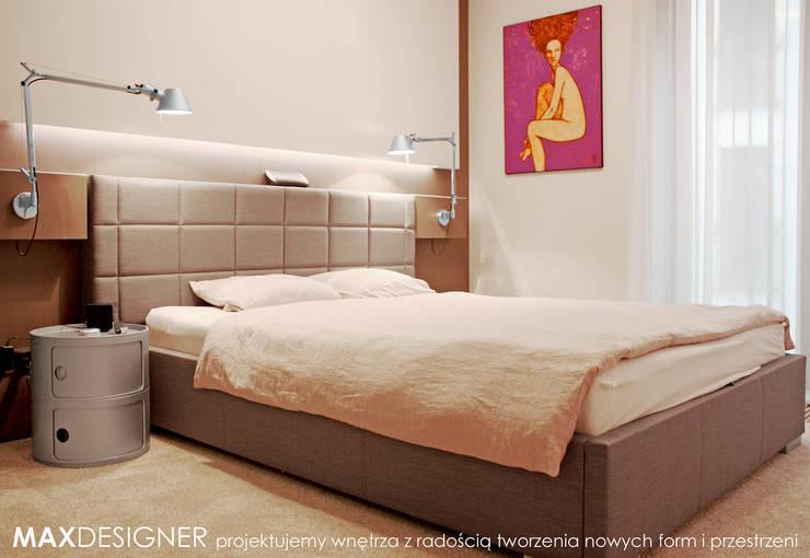 Sypialnia.: styl , w kategorii Sypialnia zaprojektowany przez MAXDESIGNER