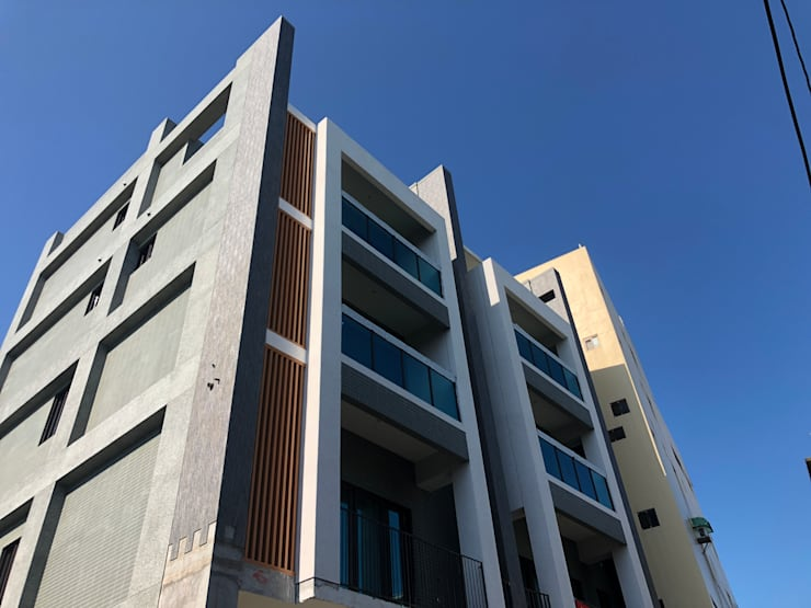 雙葉莊完工側面照:  別墅 by 讚基營造有限公司