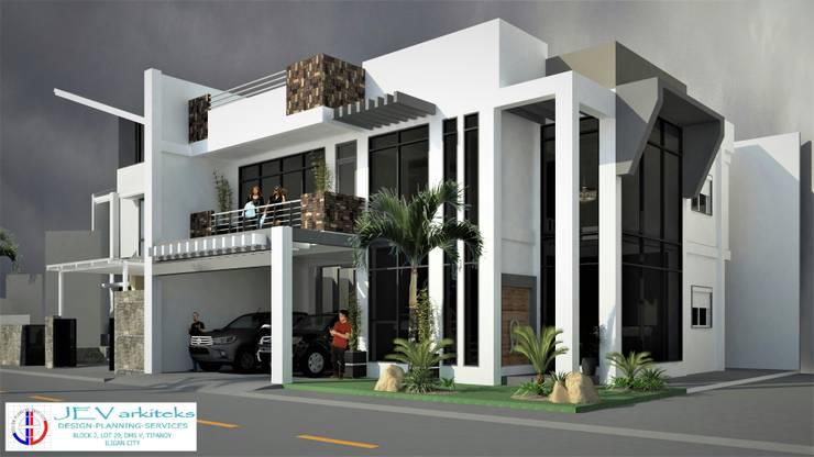 2 storey residential building with roofdeck:   by JEV Arkiteks