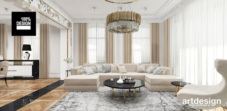 Living room by ARTDESIGN architektura wnętrz, Classic