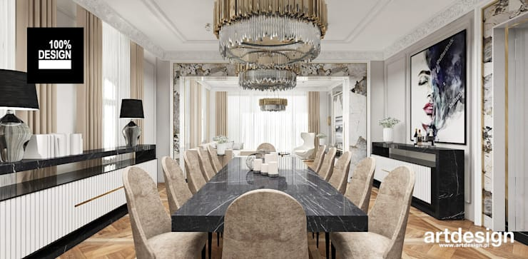Dining room by ARTDESIGN architektura wnętrz, Classic
