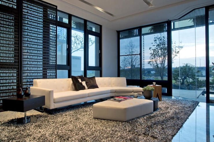 室內設計北歐風:  客廳 by 大桓設計顧問有限公司,