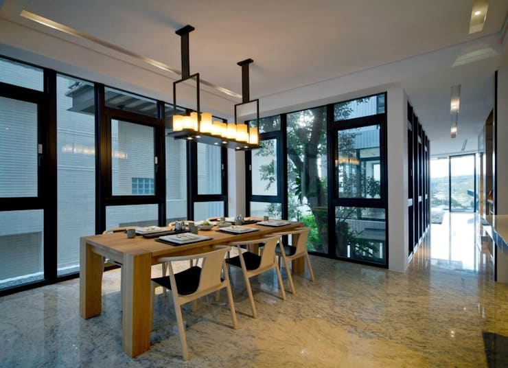 室內設計北歐風:  餐廳 by 大桓設計顧問有限公司,