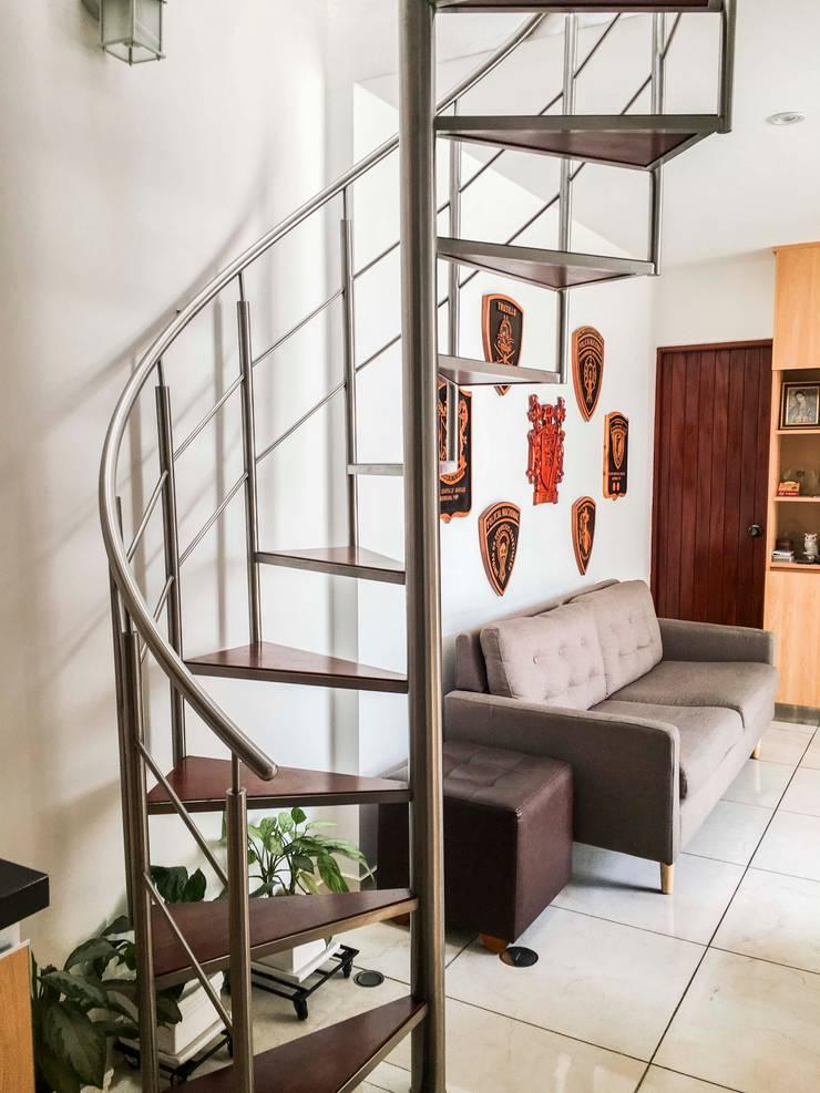 Cocina G: Escaleras de estilo  por DOGMA Architecture,