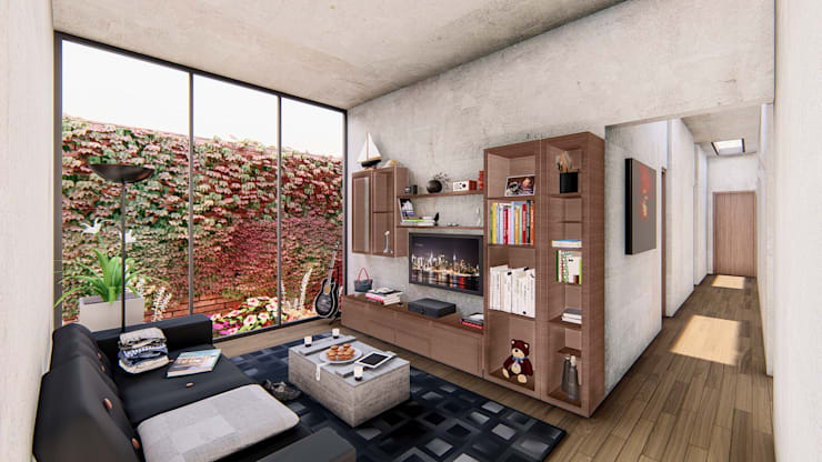 Sala de descanso de DOGMA Architecture Moderno Concreto