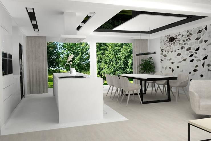 Dining room by Studio Vermilion Anna Cisło, Modern