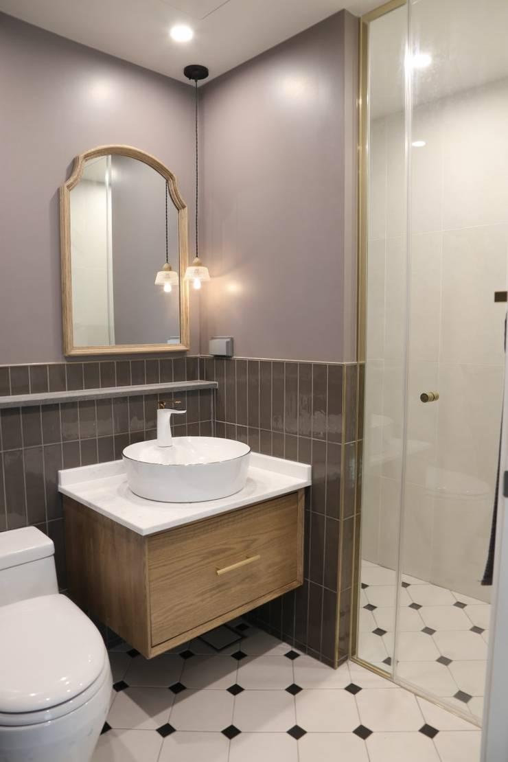 봇들마을 아파트 인테리어: 프라디자인의  욕실,