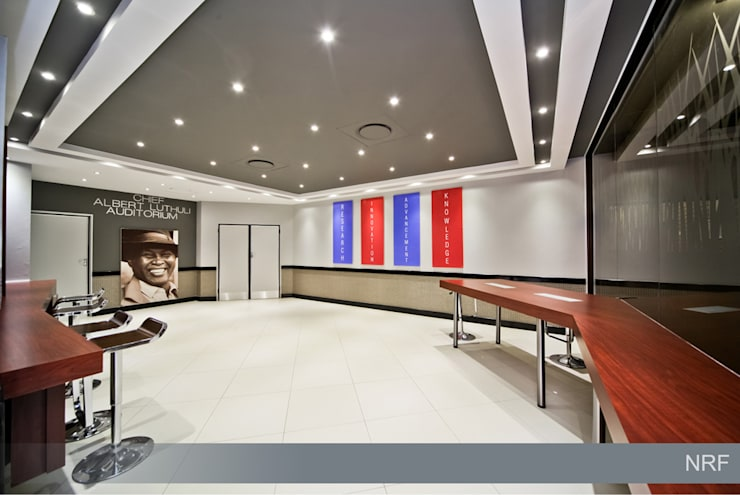 Before  & After - Interior Upgrade of The National Research Foundation, Pretoria :  Office buildings by Nuclei Lifestyle Design,