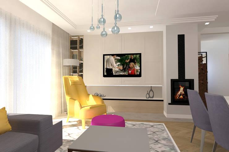 Living room by Studio Vermilion Anna Cisło, Classic