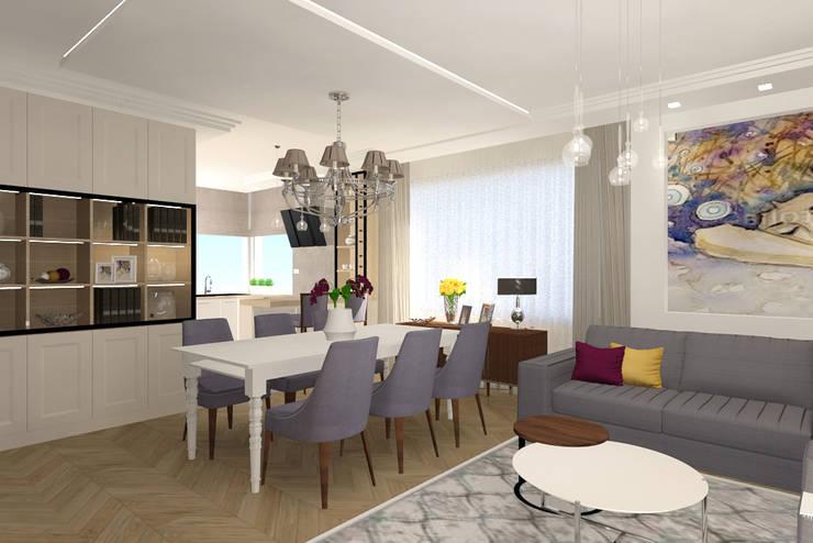 Dining room by Studio Vermilion Anna Cisło, Classic