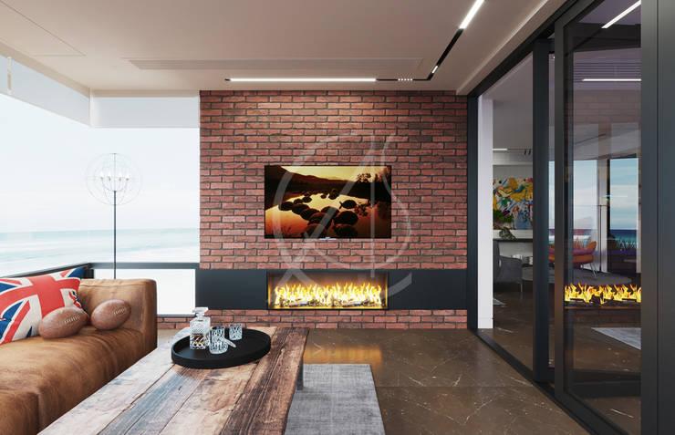 Salones de estilo  de Comelite Architecture, Structure and Interior Design