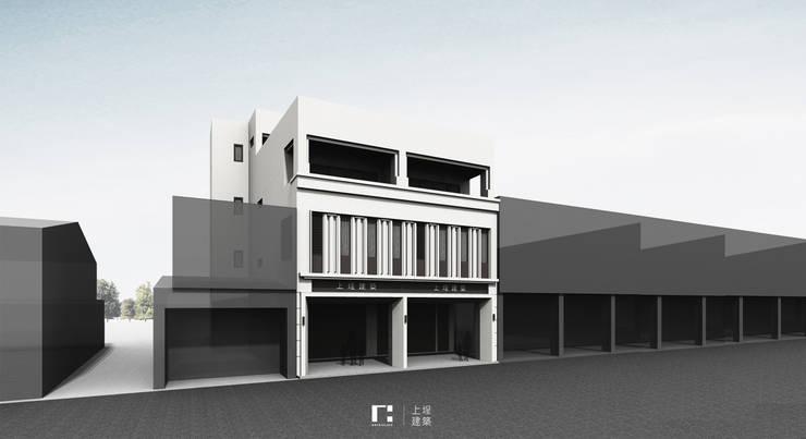 Projekty,  Dom szeregowy zaprojektowane przez 上埕建築, Nowoczesny