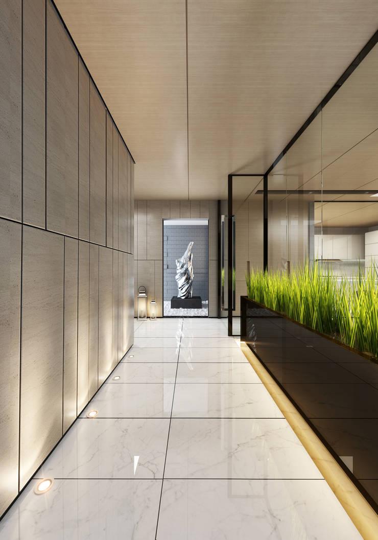Interior Visualization:  Corridor & hallway by weicheng, Modern