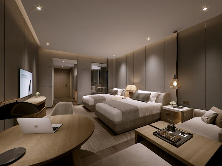 Interior Visualization:  Bedroom by weicheng, Modern