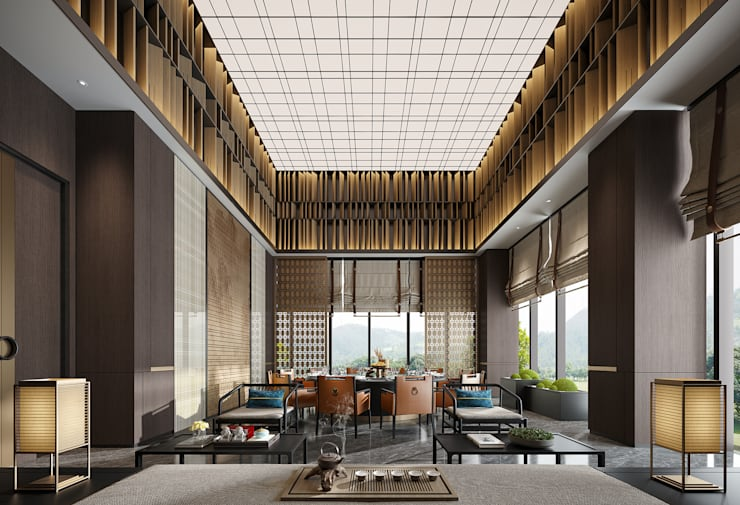 Interior Visualization:  Living room by weicheng, Asian