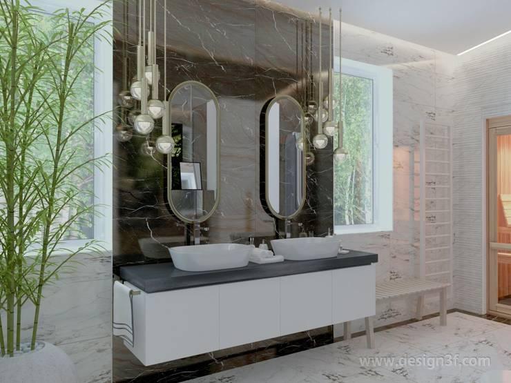 Ванная комната с сауной: Ванные комнаты в . Автор – студия Design3F, Минимализм Плитка