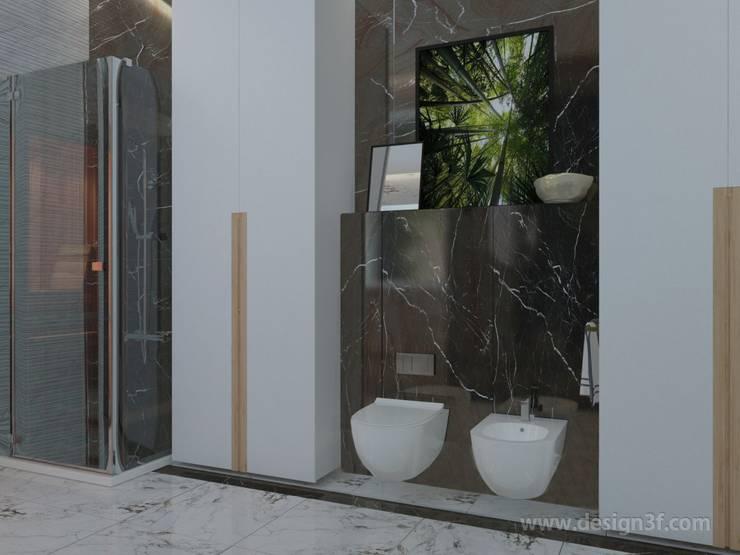 Ванная комната с сауной: Ванные комнаты в . Автор – студия Design3F, Минимализм