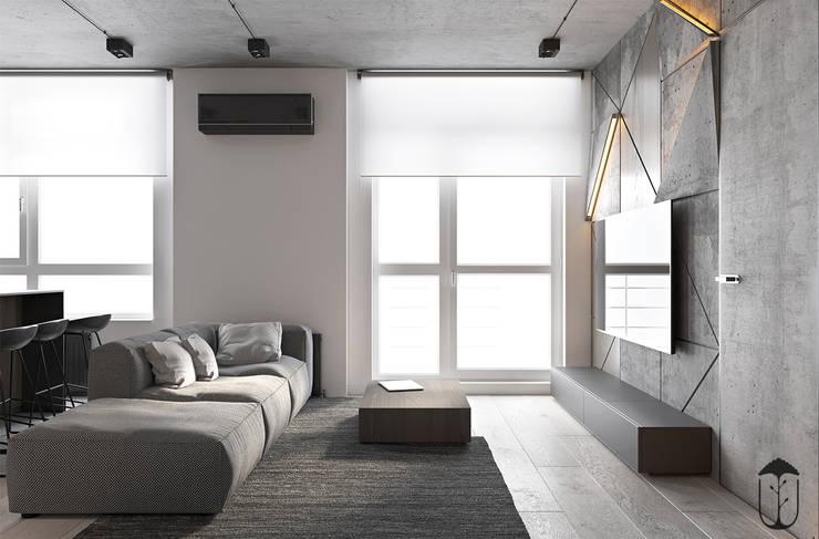 Salas / recibidores de estilo  por U-Style design studio, Minimalista
