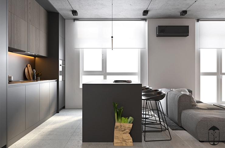 Cocinas de estilo  por U-Style design studio, Minimalista