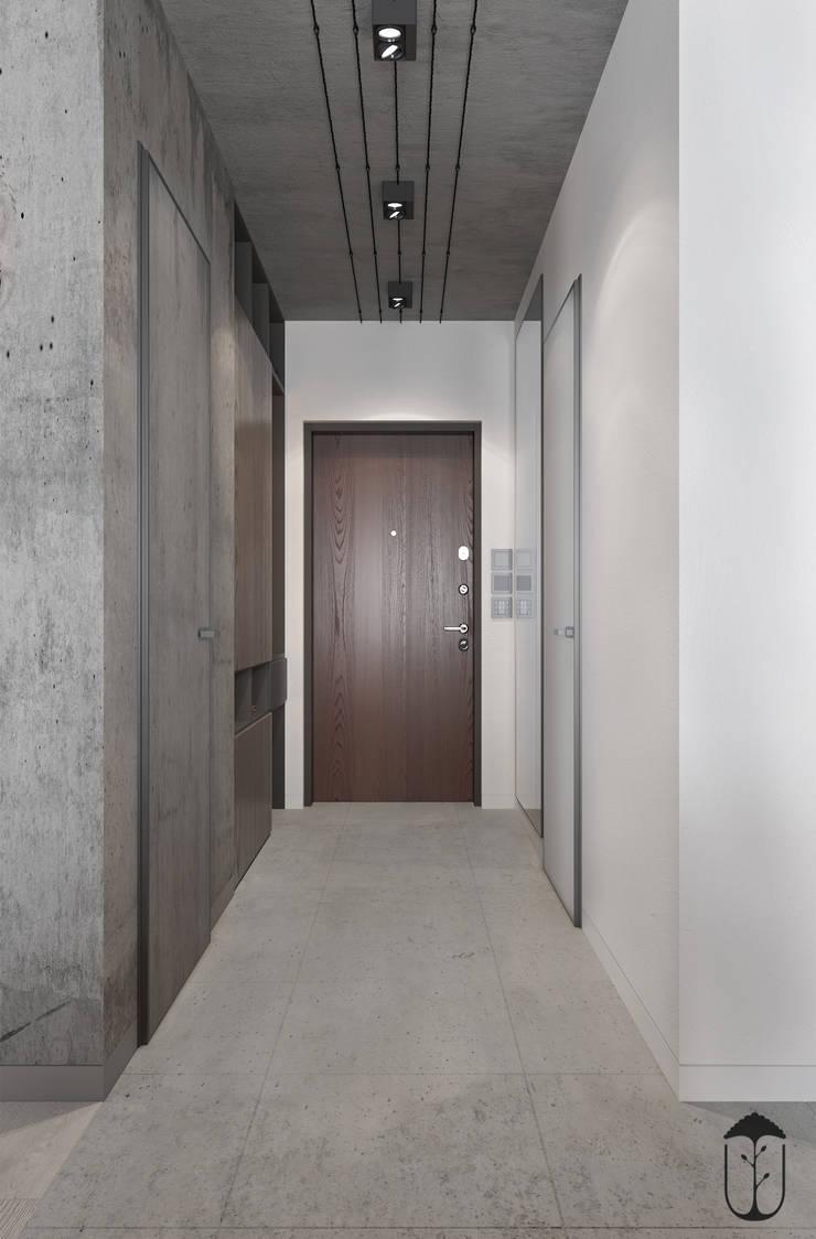 Pasillos y vestíbulos de estilo  por U-Style design studio, Minimalista