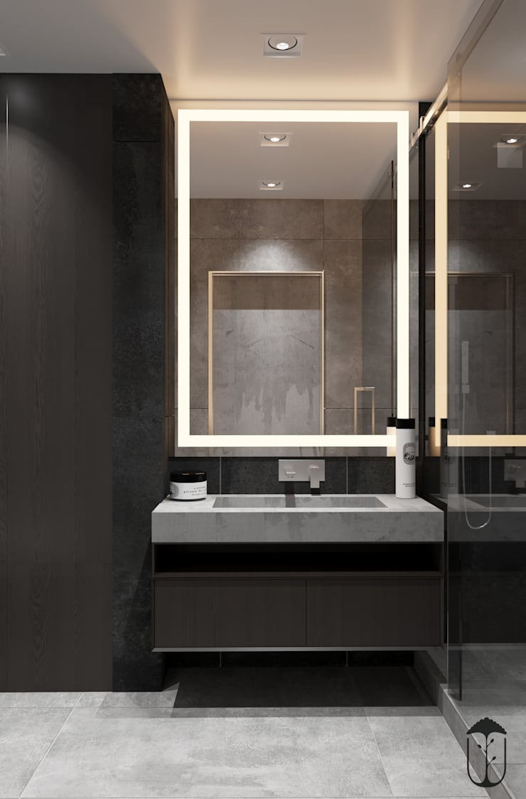 Baños de estilo  por U-Style design studio, Minimalista