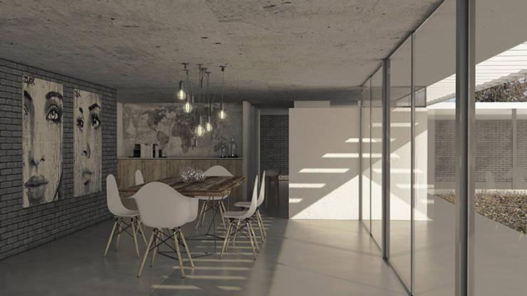 Scandinavian style dining room by MOD | Arquitectura Scandinavian Concrete